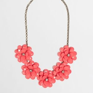 J. Crew Factory Crystal Floral Burst Necklace